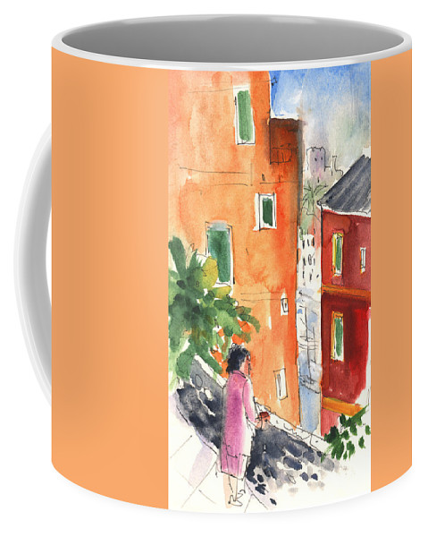 Italy Coffee Mug featuring the painting Portofino In Italy 04 by Miki De Goodaboom