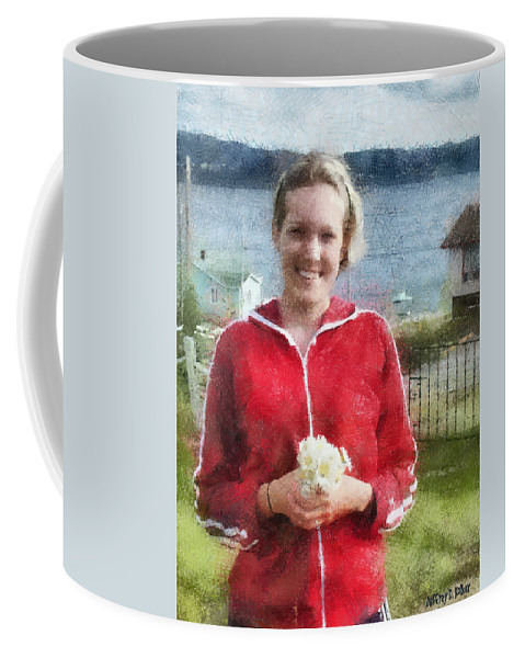 Canadian Coffee Mug featuring the painting Portrait In Newfoundland by Jeffrey Kolker