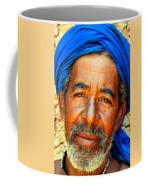 Berber Man Coffee Mug featuring the photograph Portrait Of A Berber Man by Ralph A Ledergerber-Photography