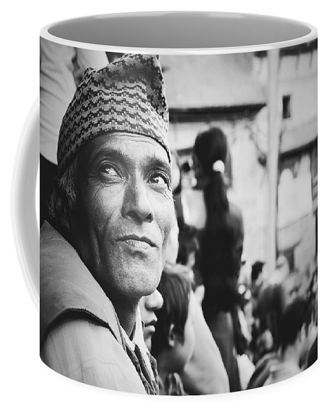Street Coffee Mug featuring the photograph Portrait Of A Face In The Crowd by Valerie Rosen