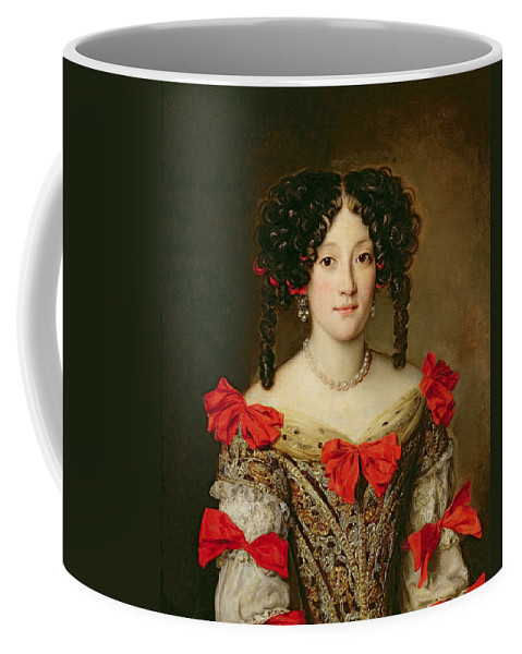 Femme Coffee Mug featuring the painting Portrait Of A Woman by Jacob Ferdinand Voet