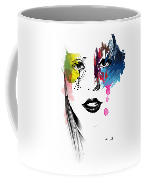 Lady Gaga Coffee Mug featuring the painting Portrait Of Colors  by Mark Ashkenazi