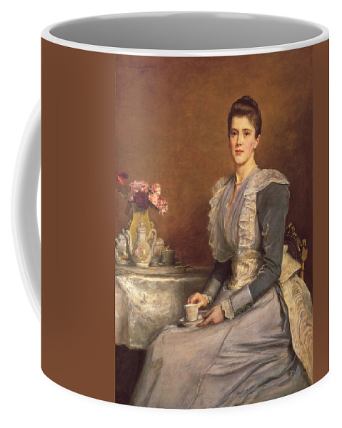 John Everett Millais Coffee Mug featuring the painting Portrait Of Mary Chamberlain by Celestial Images