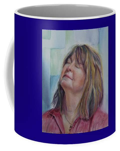Commission Coffee Mug featuring the painting Portrait Of Peg by Mary Beglau Wykes
