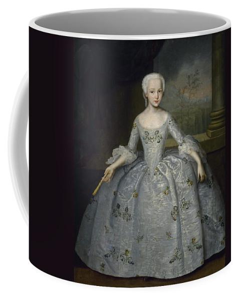 Ivan Vishnyakov Coffee Mug featuring the painting Portrait Of Sarah Eleanore Fairmore by Ivan Vishnyakov