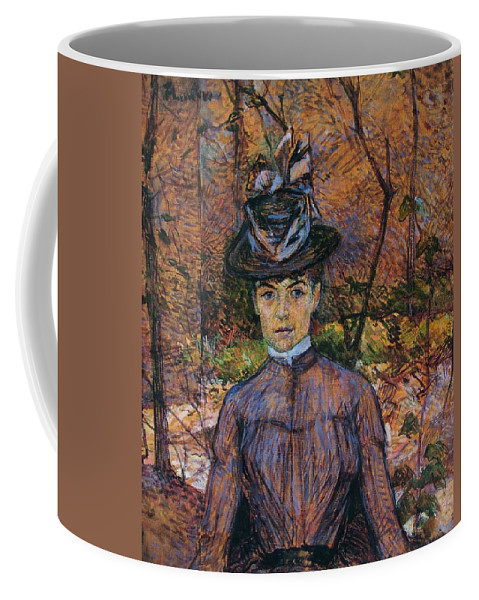 1885 Coffee Mug featuring the painting Portrait Of Suzanne Valadon by Toulouse-Lautrec