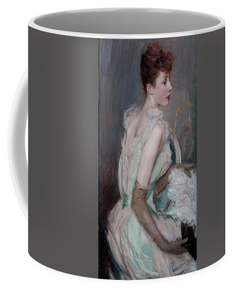 Giovanni Coffee Mug featuring the painting Portrait Of The Countess De Leusse by Giovanni Boldini