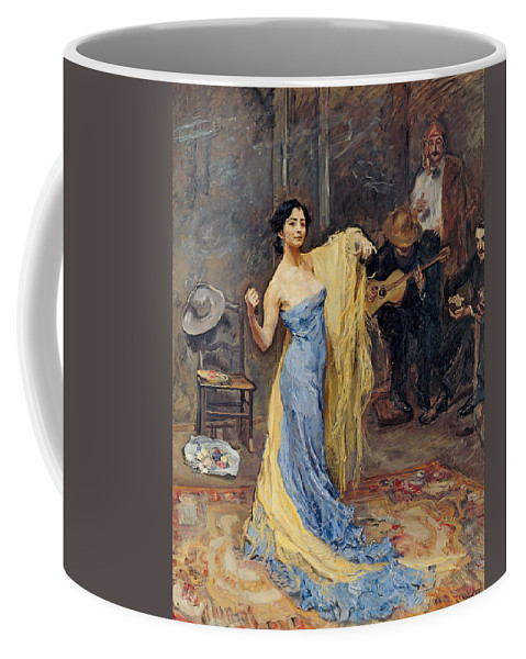 Max Slevogt Coffee Mug featuring the painting Portrait Of The Dancer Anna Pawlowa by Max Slevogt
