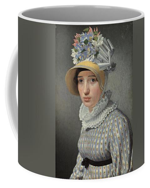 Christoffer Wilhelm Eckersberg Coffee Mug featuring the painting Portrait Of The Model Maddalena Or Anna Maria Uhden by Christoffer Wilhelm Eckersberg