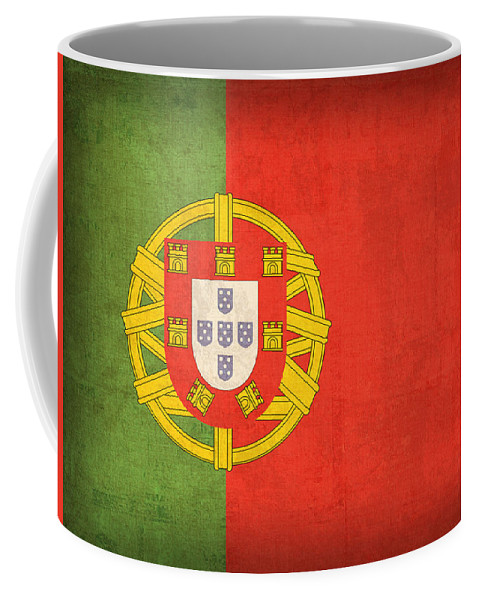 Portugal Flag Vintage Distressed Finish Lisbon Portuguese Europe Nation Country Coffee Mug featuring the mixed media Portugal Flag Vintage Distressed Finish by Design Turnpike