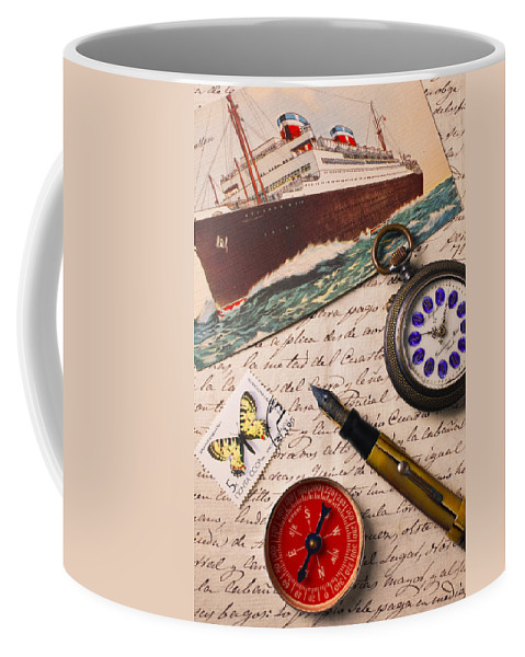 Fountain Coffee Mug featuring the photograph Post Card And Letter by Garry Gay