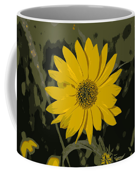 Posterize Coffee Mug featuring the photograph Posterized Smooth Oxeye by Mark Hudon