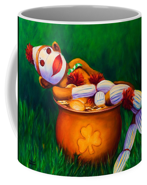 St. Patrick's Day Coffee Mug featuring the painting Pot O Gold by Shannon Grissom