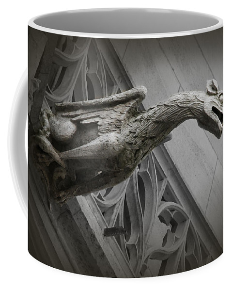 France Coffee Mug featuring the photograph Pouncing Dragon by Diana Haronis