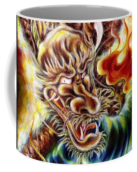 Caving Coffee Mug featuring the painting Power Of Spirit by Hiroko Sakai