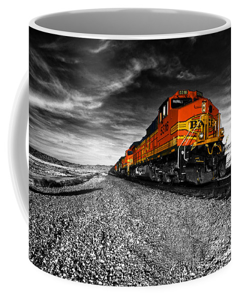 Bnsf Coffee Mug featuring the photograph Power Of The Santa Fe by Rob Hawkins