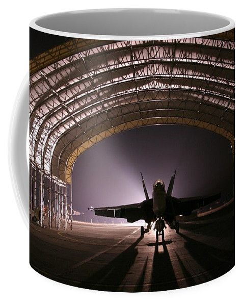 Jet Coffee Mug featuring the photograph Power Rests At Night by Mountain Dreams