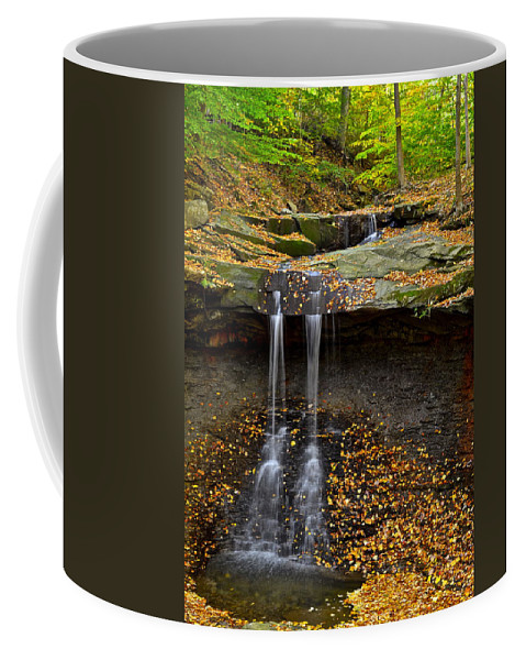 Waterfall Coffee Mug featuring the photograph Powerful Trickle by Frozen in Time Fine Art Photography