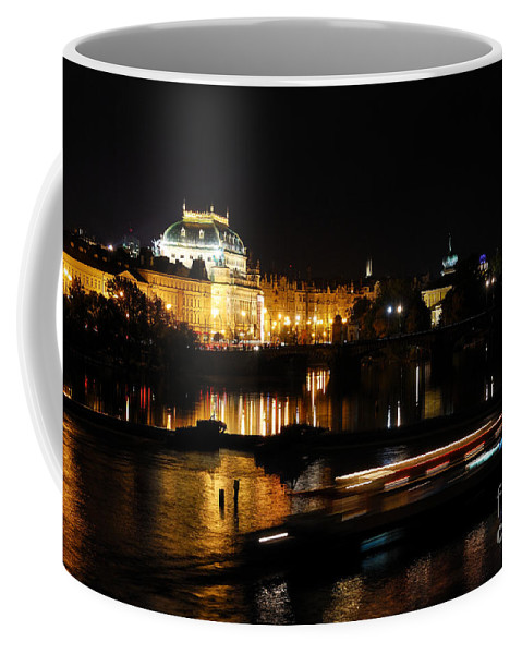 Prague Coffee Mug featuring the photograph Prague National Theater by Syed Aqueel