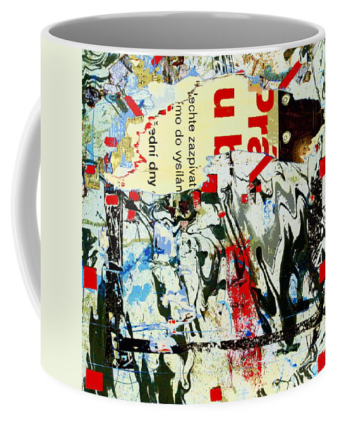 Prague Spring Coffee Mug featuring the mixed media Prague Spring by Dominic Piperata