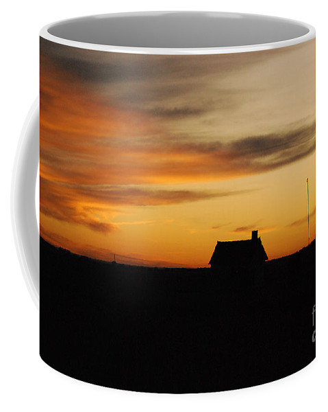 Sunset Coffee Mug featuring the photograph Prairie Sunset by Mary Carol Story