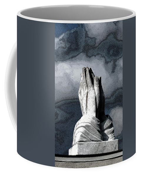 Vertical Coffee Mug featuring the photograph Praying Hands by Sally Rockefeller
