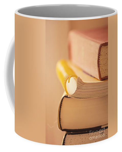 Book Coffee Mug featuring the photograph Pre Internet by Lois Bryan