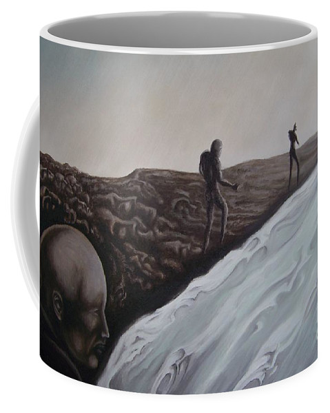Tmad Coffee Mug featuring the painting Premonition by Michael TMAD Finney