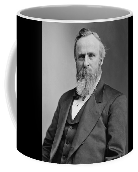 Rutherford B Hayes Coffee Mug featuring the photograph President Rutherford Hayes by War Is Hell Store