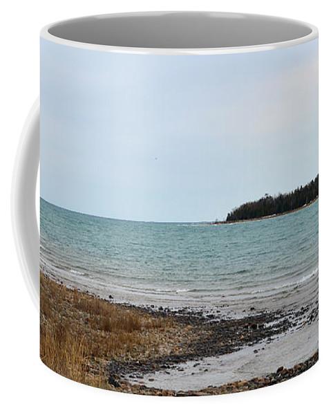Presque Isle Coffee Mug featuring the photograph Presque Isle Harbor by Linda Kerkau