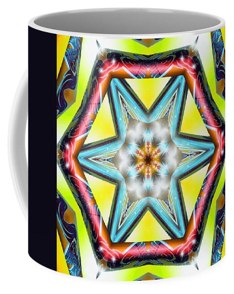 Sacredlife Mandalas Coffee Mug featuring the digital art Pressurized by Derek Gedney