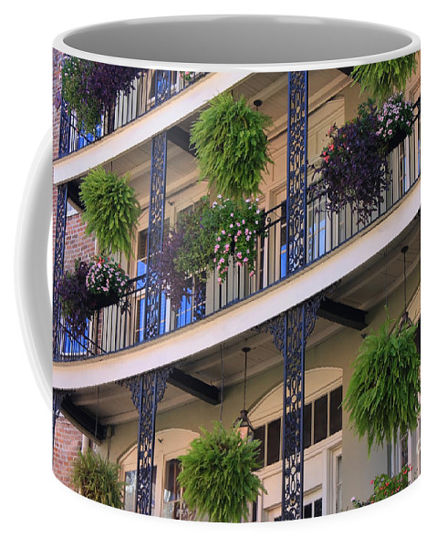 New Orleans Coffee Mug featuring the photograph Pretty Balcony by Carol Groenen