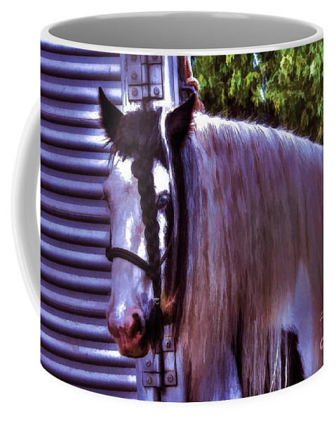 Horse Coffee Mug featuring the photograph Pretty Girl by Tommy Anderson