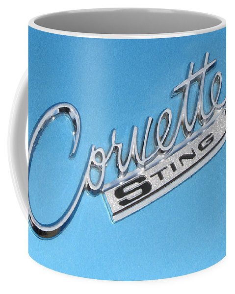 Corvette Coffee Mug featuring the photograph Pretty In Blue by Liz Tomlinson