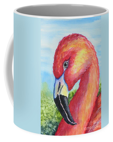 Wildlife Coffee Mug featuring the painting Pretty In Pink by Conni Reinecke