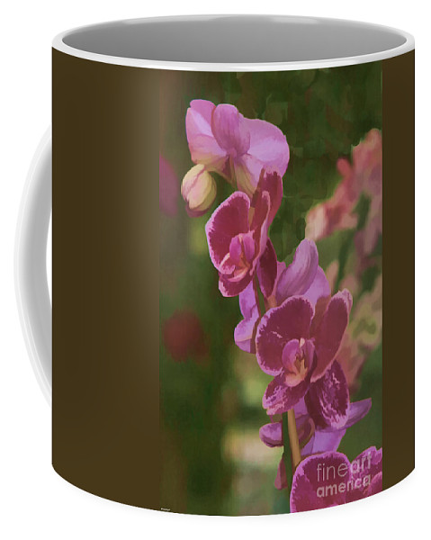 Floral Print Coffee Mug featuring the photograph Pretty In Pink Water Color Effect by Tom Prendergast