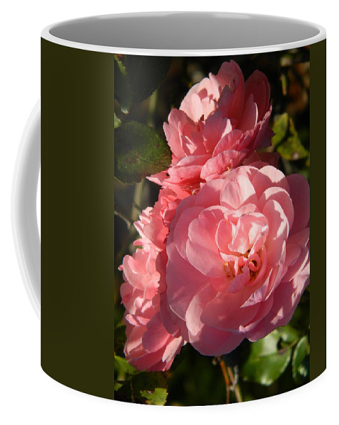 Pink Coffee Mug featuring the photograph Pretty Pink Bunch Of Roses by Nicki Bennett