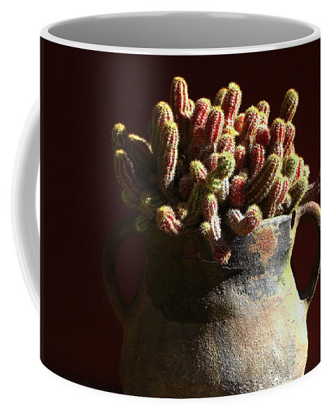 Chamaecereus Coffee Mug featuring the photograph Prickly Padres by Xueling Zou