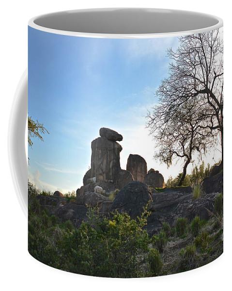 Sunset Coffee Mug featuring the photograph Pride Rock by Carol Bradley