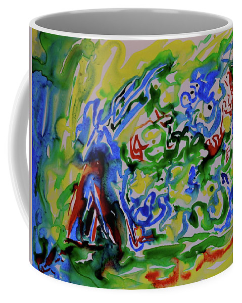 Primary Coffee Mug featuring the painting Primary Study II Finding The Way by Beverley Harper Tinsley