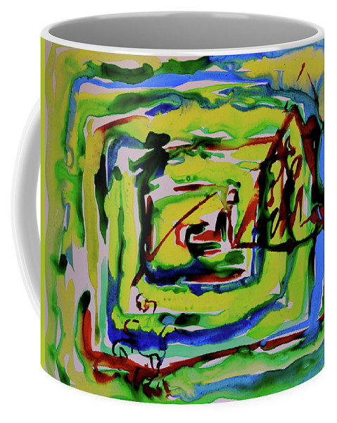 Primary Coffee Mug featuring the painting Primary Study IIi Into The Light by Beverley Harper Tinsley
