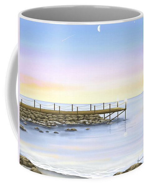 Ipad Coffee Mug featuring the painting Prime Luci by Veronica Minozzi