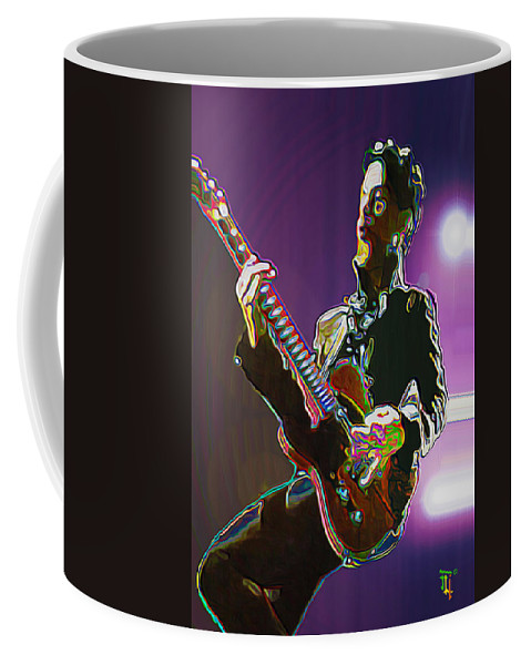 Prince Coffee Mug featuring the painting Prince by Fli Art