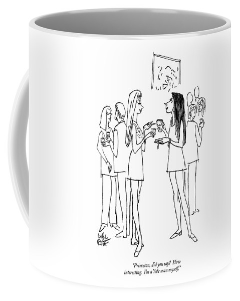Education Coffee Mug featuring the drawing Princeton, Did You Say? How Interesting.  I'm by Carl Rose