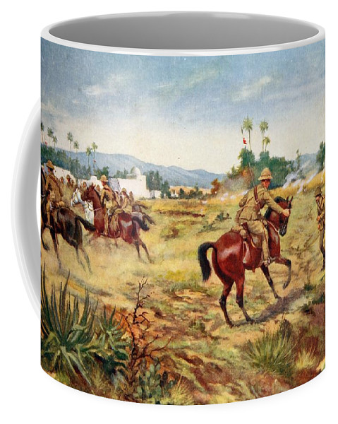 21st Lancers Coffee Mug featuring the drawing Private C. Hull Saving The Life by George Derville Rowlandson