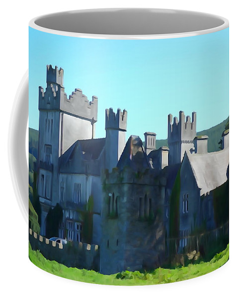 Castle Coffee Mug featuring the photograph Private Property - Castle Art By Charlie Brock by Charlie Brock