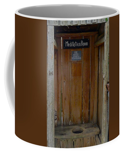 Privy Coffee Mug featuring the photograph Privy by Denise Mazzocco