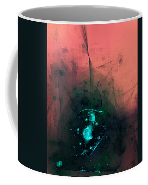 Artists On Tumblr Coffee Mug featuring the digital art Problem Of Evil by Jeff Iverson