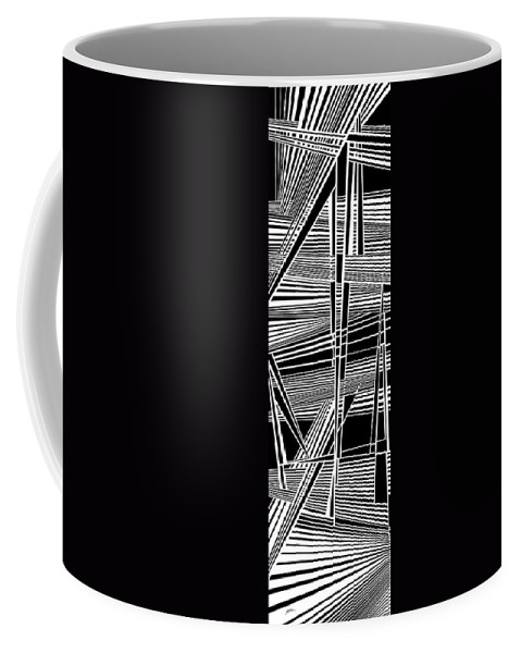 Dynamic Black And White Coffee Mug featuring the painting Progression by Douglas Christian Larsen