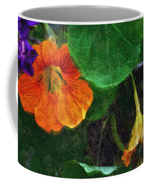 Nasturtiums Coffee Mug featuring the painting Prolonging Summer by RC deWinter